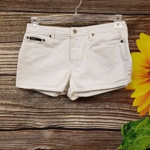 Lei jean white short shorts size 9 Pre-owned
